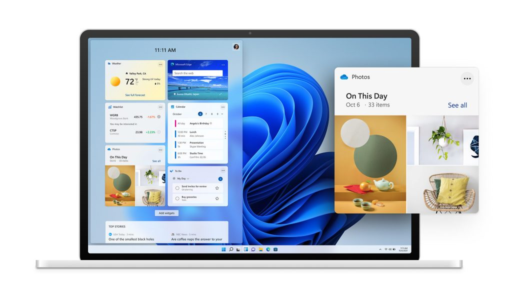 Windows 11 - treści dopasowane do użytkownika